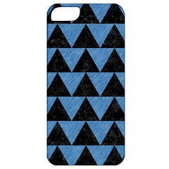 Triangle2 Black Marble & Blue Colored Pencil Apple Iphone 5 Classic Hardshell Case by trendistuff
