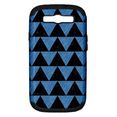 Triangle2 Black Marble & Blue Colored Pencil Samsung Galaxy S Iii Hardshell Case (pc+silicone) by trendistuff