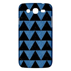Triangle2 Black Marble & Blue Colored Pencil Samsung Galaxy Mega 5 8 I9152 Hardshell Case  by trendistuff