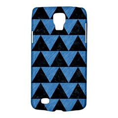 Triangle2 Black Marble & Blue Colored Pencil Samsung Galaxy S4 Active (i9295) Hardshell Case by trendistuff