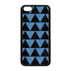 Triangle2 Black Marble & Blue Colored Pencil Apple Iphone 5c Seamless Case (black) by trendistuff