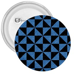 Triangle1 Black Marble & Blue Colored Pencil 3  Button by trendistuff