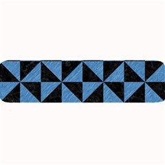 Triangle1 Black Marble & Blue Colored Pencil Large Bar Mat by trendistuff