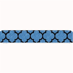 Tile1 Black Marble & Blue Colored Pencil (r) Small Bar Mat