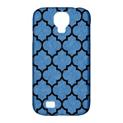 Tile1 Black Marble & Blue Colored Pencil (r) Samsung Galaxy S4 Classic Hardshell Case (pc+silicone) by trendistuff