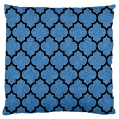 Tile1 Black Marble & Blue Colored Pencil (r) Standard Flano Cushion Case (one Side) by trendistuff