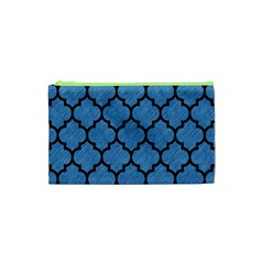 Tile1 Black Marble & Blue Colored Pencil (r) Cosmetic Bag (xs) by trendistuff