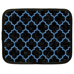 Tile1 Black Marble & Blue Colored Pencil Netbook Case (xl) by trendistuff