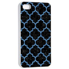 Tile1 Black Marble & Blue Colored Pencil Apple Iphone 4/4s Seamless Case (white) by trendistuff