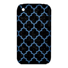 Tile1 Black Marble & Blue Colored Pencil Apple Iphone 3g/3gs Hardshell Case (pc+silicone) by trendistuff