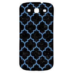 Tile1 Black Marble & Blue Colored Pencil Samsung Galaxy S3 S Iii Classic Hardshell Back Case by trendistuff