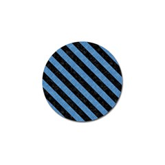 Stripes3 Black Marble & Blue Colored Pencil (r) Golf Ball Marker by trendistuff