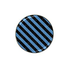Stripes3 Black Marble & Blue Colored Pencil (r) Hat Clip Ball Marker (4 Pack) by trendistuff