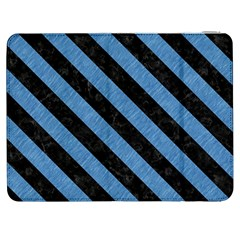 Stripes3 Black Marble & Blue Colored Pencil (r) Samsung Galaxy Tab 7  P1000 Flip Case by trendistuff