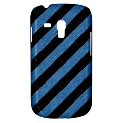 Stripes3 Black Marble & Blue Colored Pencil Samsung Galaxy S3 Mini I8190 Hardshell Case by trendistuff