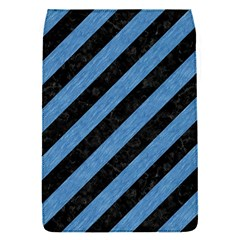 Stripes3 Black Marble & Blue Colored Pencil Removable Flap Cover (s) by trendistuff