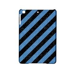 Stripes3 Black Marble & Blue Colored Pencil Apple Ipad Mini 2 Hardshell Case by trendistuff