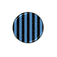 Stripes1 Black Marble & Blue Colored Pencil Hat Clip Ball Marker (10 Pack) by trendistuff