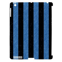 Stripes1 Black Marble & Blue Colored Pencil Apple Ipad 3/4 Hardshell Case (compatible With Smart Cover) by trendistuff