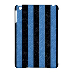 Stripes1 Black Marble & Blue Colored Pencil Apple Ipad Mini Hardshell Case (compatible With Smart Cover) by trendistuff