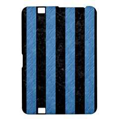 Stripes1 Black Marble & Blue Colored Pencil Kindle Fire Hd 8 9  Hardshell Case by trendistuff