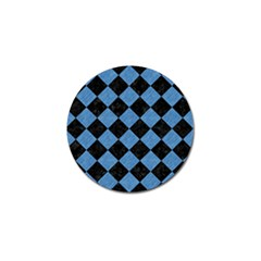 Square2 Black Marble & Blue Colored Pencil Golf Ball Marker (10 Pack) by trendistuff