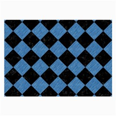 Square2 Black Marble & Blue Colored Pencil Large Glasses Cloth by trendistuff