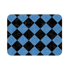 Square2 Black Marble & Blue Colored Pencil Double Sided Flano Blanket (mini) by trendistuff