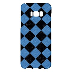 Square2 Black Marble & Blue Colored Pencil Samsung Galaxy S8 Plus Hardshell Case  by trendistuff