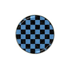 Square1 Black Marble & Blue Colored Pencil Hat Clip Ball Marker by trendistuff