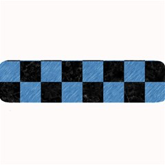 Square1 Black Marble & Blue Colored Pencil Large Bar Mat by trendistuff