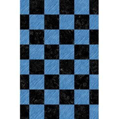 Square1 Black Marble & Blue Colored Pencil 5 5  X 8 5  Notebook by trendistuff
