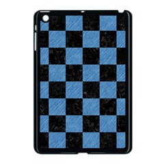 Square1 Black Marble & Blue Colored Pencil Apple Ipad Mini Case (black) by trendistuff