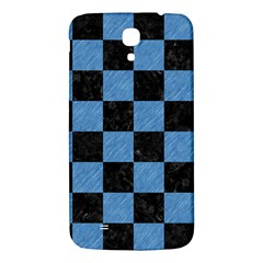 Square1 Black Marble & Blue Colored Pencil Samsung Galaxy Mega I9200 Hardshell Back Case by trendistuff