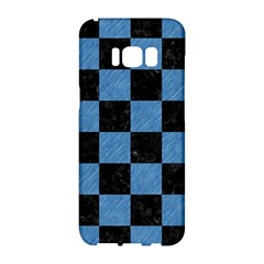 Square1 Black Marble & Blue Colored Pencil Samsung Galaxy S8 Hardshell Case  by trendistuff