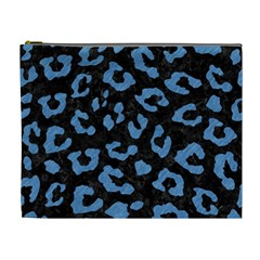 Skin5 Black Marble & Blue Colored Pencil (r) Cosmetic Bag (xl) by trendistuff