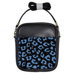 Skin5 Black Marble & Blue Colored Pencil (r) Girls Sling Bag by trendistuff