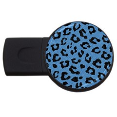 Skin5 Black Marble & Blue Colored Pencil Usb Flash Drive Round (4 Gb) by trendistuff