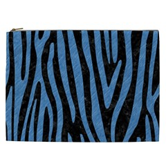 Skin4 Black Marble & Blue Colored Pencil (r) Cosmetic Bag (xxl) by trendistuff