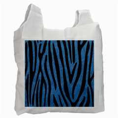 Skin4 Black Marble & Blue Colored Pencil Recycle Bag (two Side) by trendistuff