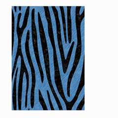 Skin4 Black Marble & Blue Colored Pencil Large Garden Flag (two Sides) by trendistuff