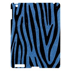 Skin4 Black Marble & Blue Colored Pencil Apple Ipad 3/4 Hardshell Case by trendistuff
