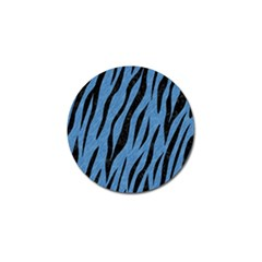 Skin3 Black Marble & Blue Colored Pencil (r) Golf Ball Marker (4 Pack) by trendistuff