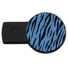 Skin3 Black Marble & Blue Colored Pencil (r) Usb Flash Drive Round (2 Gb) by trendistuff