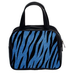 Skin3 Black Marble & Blue Colored Pencil (r) Classic Handbag (two Sides) by trendistuff