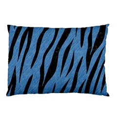 Skin3 Black Marble & Blue Colored Pencil (r) Pillow Case by trendistuff