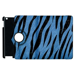 Skin3 Black Marble & Blue Colored Pencil (r) Apple Ipad 2 Flip 360 Case by trendistuff