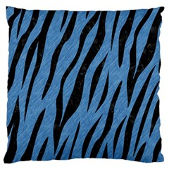 Skin3 Black Marble & Blue Colored Pencil (r) Standard Flano Cushion Case (one Side) by trendistuff