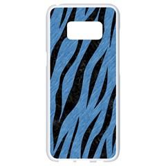 Skin3 Black Marble & Blue Colored Pencil (r) Samsung Galaxy S8 White Seamless Case