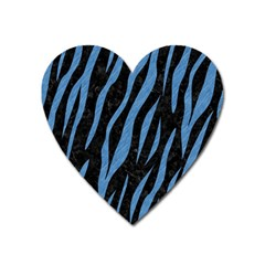 Skin3 Black Marble & Blue Colored Pencil Magnet (heart) by trendistuff